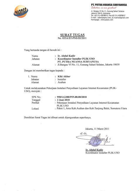 Contoh Surat Dinas Penugasan by Contoh Lengkap Surat Tugas Tentang Bimbingan Dan Konseling