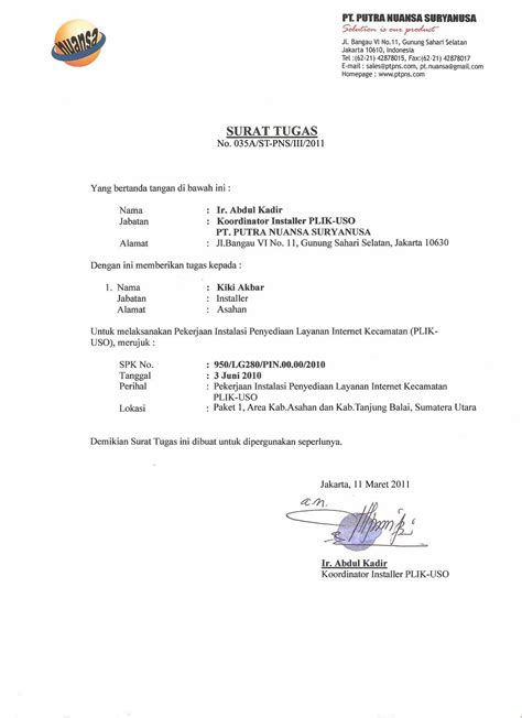 Contoh Surat Perjalanan Dinas Karyawan Swasta by Contoh Lengkap Surat Tugas Tentang Bimbingan Dan Konseling