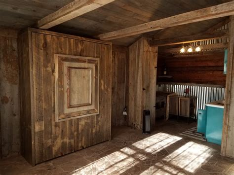 reclaimed wood murphy bed wyoming snow fence murphy bed flyingbeds