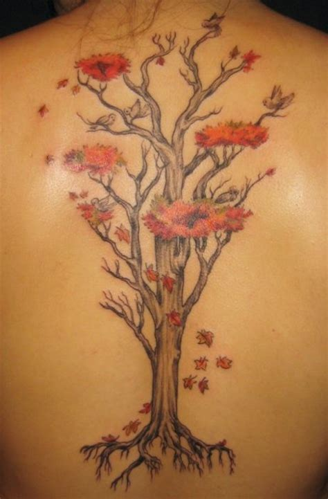 autumn tattoos 76 tree tattoos ideas to show your for nature mens