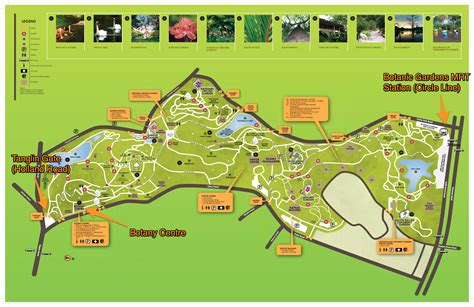 Singapore Botanic Gardens Travel Me Botanical Gardens Singapore Map