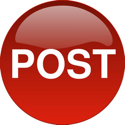 lpost or l post post button clip at clker com vector clip