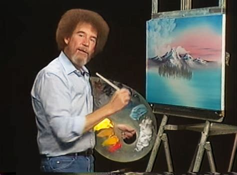 bob ross painter bob ross curly hair was actually why he got a perm