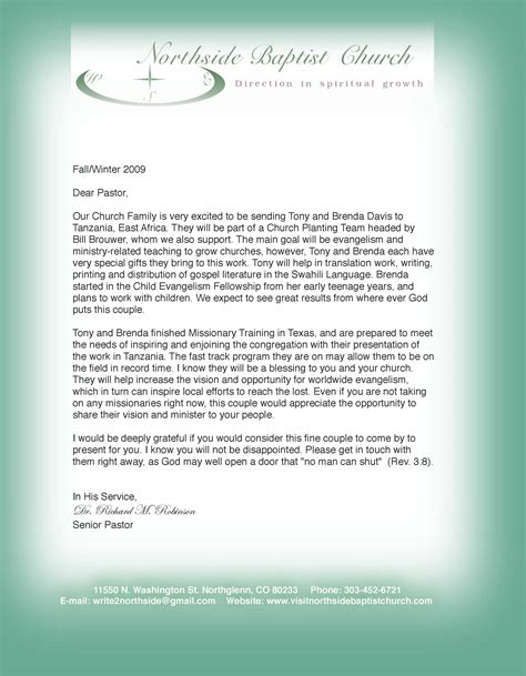 Free sample of pastor anniversary letter just b cause