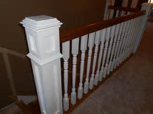 Installing Handrails And Balusters newel posts balusters and handrail install two alarm