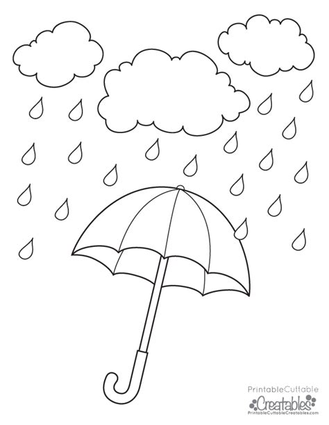 printable coloring pages umbrella rainy day umbrella free printable coloring page