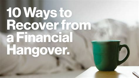 10 Best Ways To Beat A Hangover by 10 Ways To Recover From A Financial Hangover