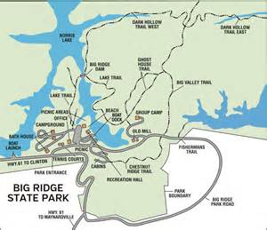 Tn State Parks Map by Big Ridge State Park Tennessee State Parks