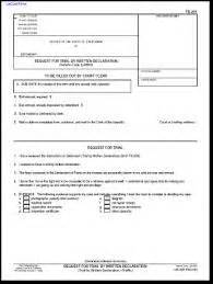 basis of plea template trial by declaration in california trial by written