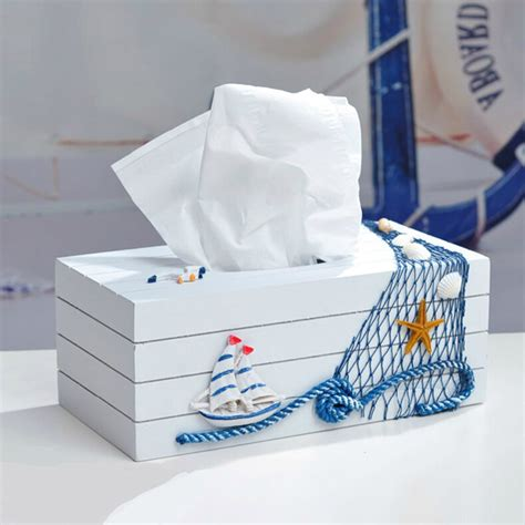 Tissue Paper Box Tr 2 decorative mediterranean style blue and white tissue boxes paper napkin box was listed for