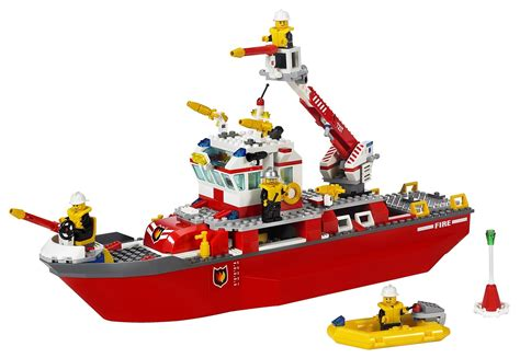 toy boat with fire lego city fire boat lego toys for kids youtube