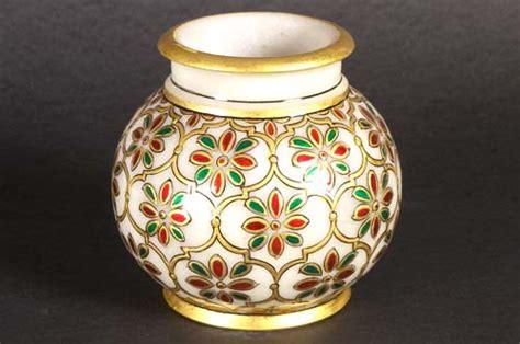 Handmade Pot Painting - radha krishna painting marble painting krishna painting