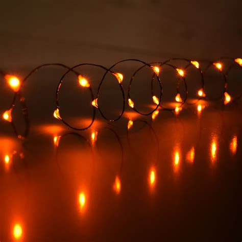 mini string lights orange led battery operated mini lights