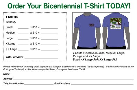 Tshirt Order Form Template by Shirt Order Forms Template Business