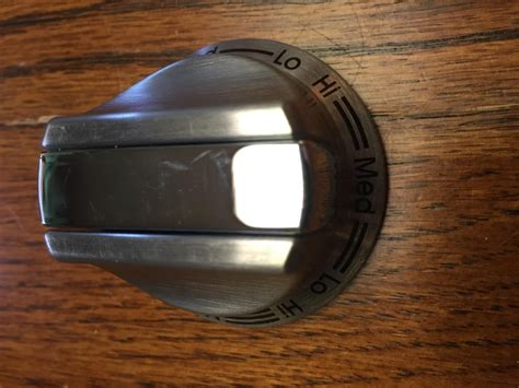 Viking Oven Knob Replacement by Viking D3 Electric Cooktop Stainless Steel Knob