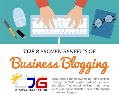 Top Mba Blogs by Top 8 Proven Benefits Of Business Blogging Infographic