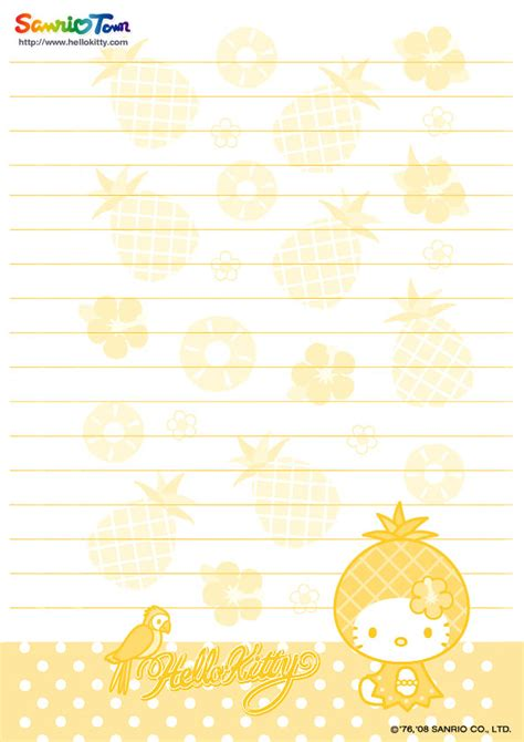 hello kitty printable letter stationary hello kitty forever