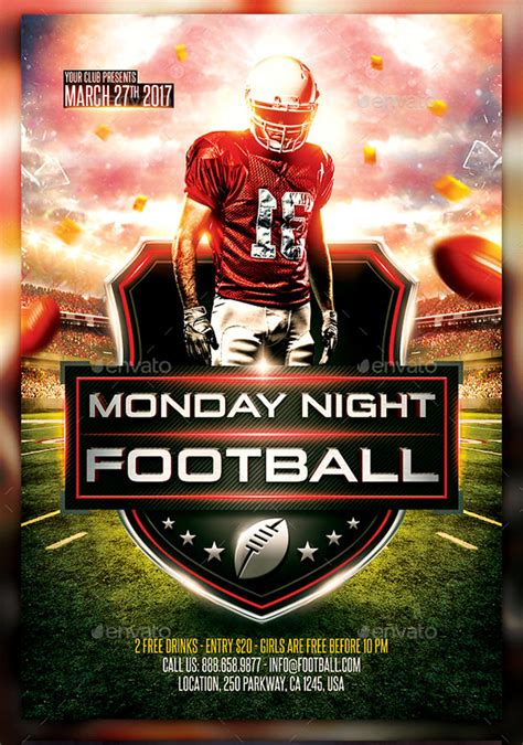 free football flyer templates college football flyer template free