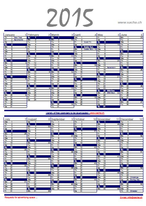 free printable a3 2015 wall planner calendars planners personal organizers