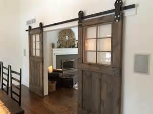 Barn Door Windows Vintage Custom Sliding Barn Door With Windows Price Is For