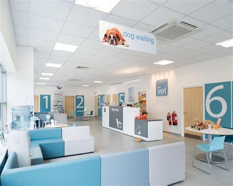 reception area dog waiting hospital interior clinic