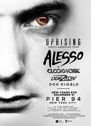 alesso stubhub uprising tour feat alesso tickets the pier 94 on
