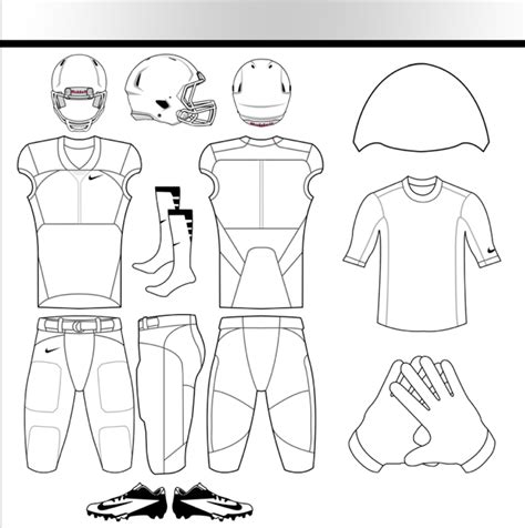 11 football uniform template psd images nike football