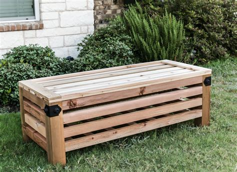 diy outdoor storage ottoman
