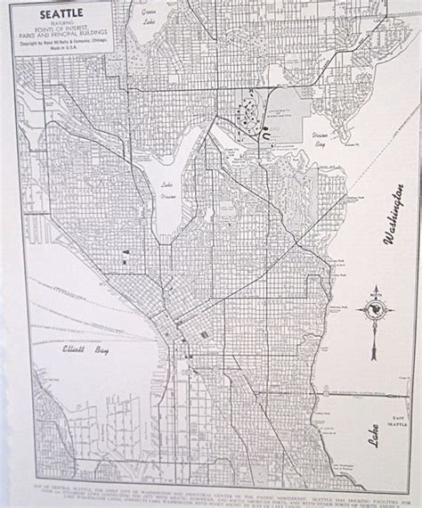 seattle map vintage seattle and maps on