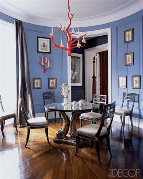 Blue Dining Room Centerpieces Blue Dining Rooms Bossy Color Elliott Interior Design
