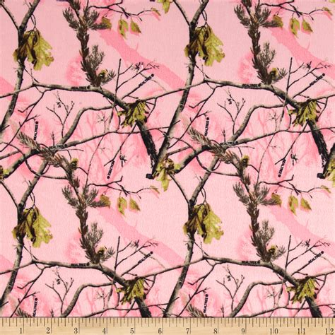 Realtree Quilting Fabric by Flannel Sunflowers Pink Discount Designer Fabric