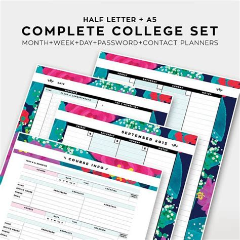 printable student planner 2016 free complete college student planner 2015 2016 academic by
