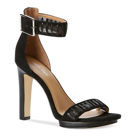 klein sandals calvin klein valinda high heel sandals in black lyst