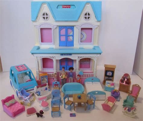fisher price doll house fisher price loving family 6364 dream dollhouse people furniture van doll house ebay