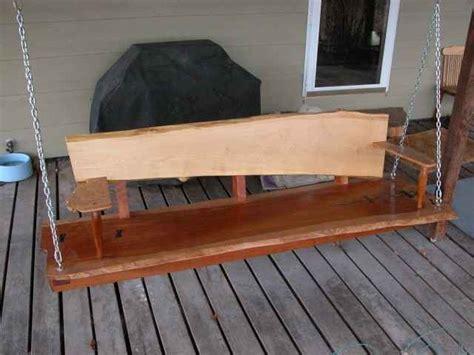 custom porch swing rustic custom cherry slab porch swing dumond s custom