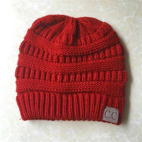 knitting letters into a hat cc letter ponytail cap knitting hat for