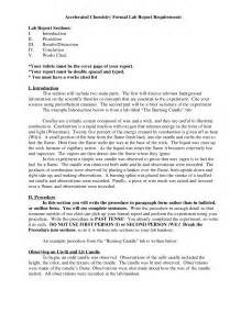 Chemistry Formal Lab Report Sample Best Photos Of Formal Introduction Paper Example