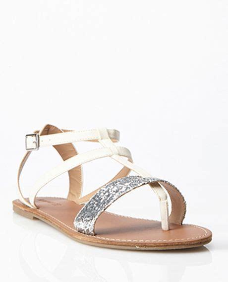 gladiator sandals forever 21 forever 21 glittered gladiator sandals in beige