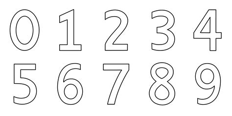 Numbers 0 20 Coloring Pages by Number Color Pages Best Quality Kiddo Shelter