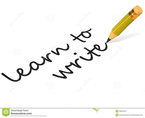 learn text concept write on learn to write royalty free stock photo image 28952255