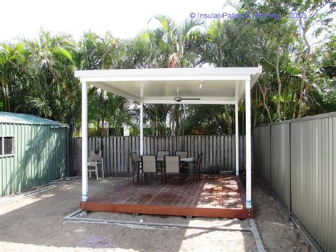 free standing patio solarspan roofing with wire