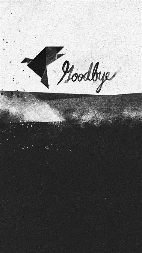 goodbye black  white paper bird iphone   hd