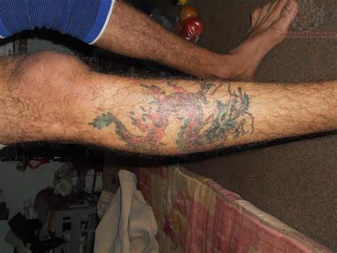 dragon leg tattoos for men on right leg