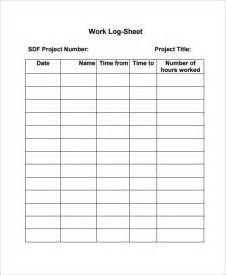 Daily Log Sheet Template Free by Work Log Template 7 Free Word Excel Pdf Documents