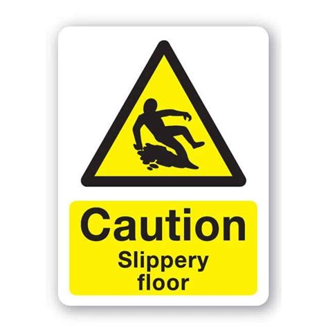 Sign Floor by Caution Slippery Floor Sign 300x400mm
