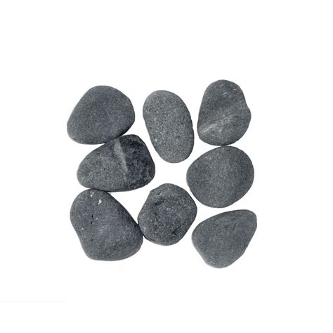 0 75 cu ft 2 in x 3 in 50 lbs black river rocks