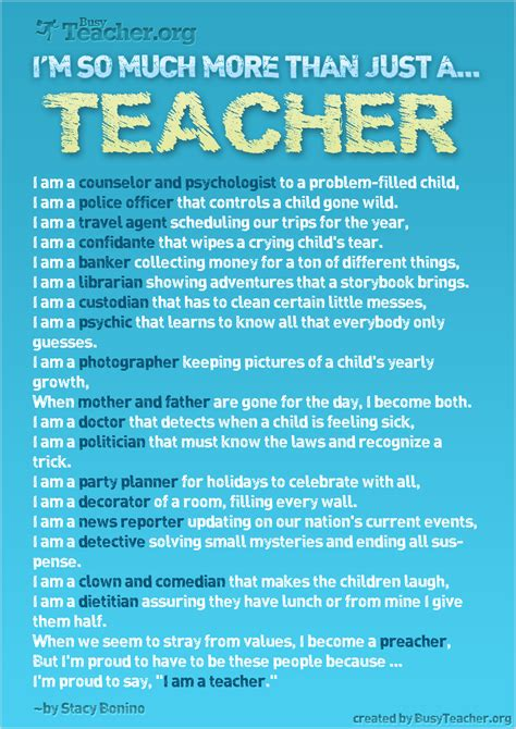 for teachers i m so much more than just a poster