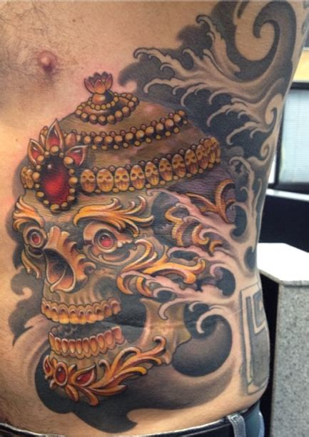 tibetan skull by dominic holmes tattoonow