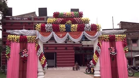 MARRIAGE WEDDING FLOWERS STAGE DECORATION .VIDEO'S FULL HD