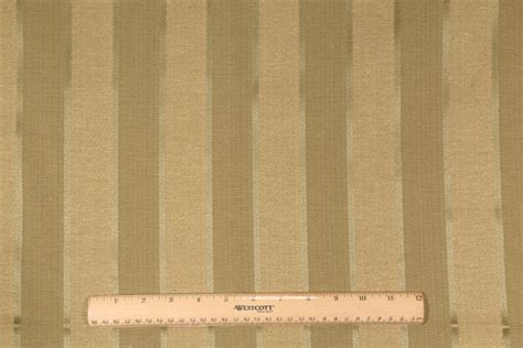 woven upholstery fabric for sofa 1 yard woven stripe upholstery fabric in sage gold